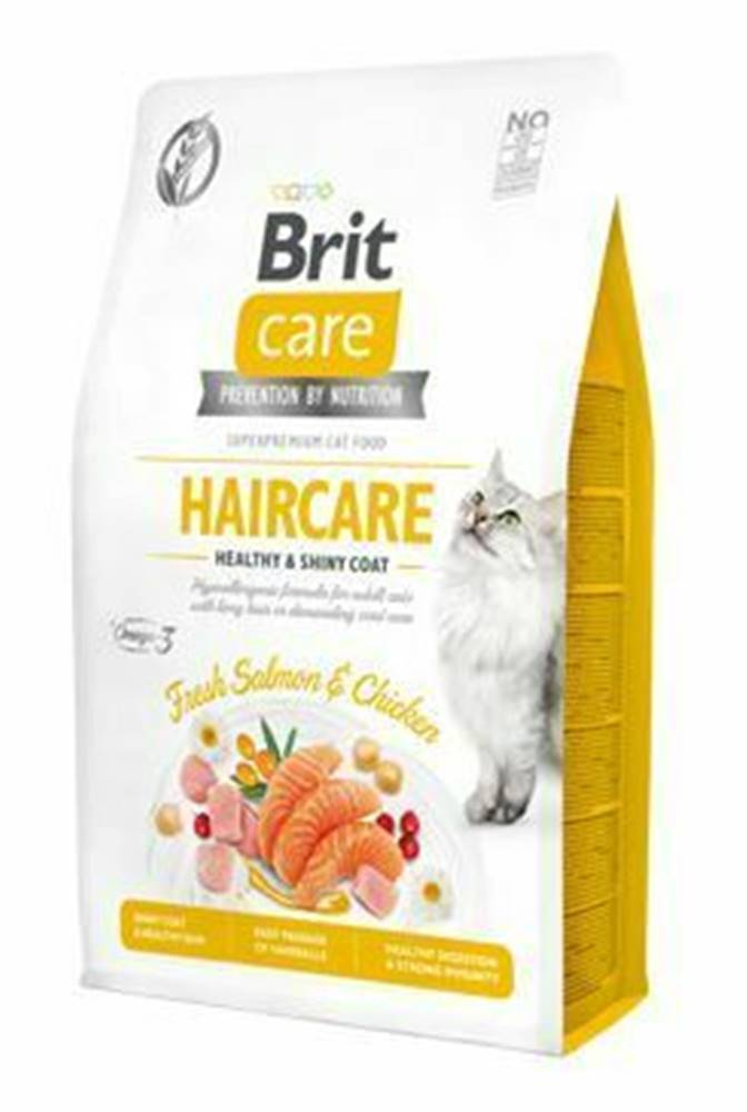 Brit Care Brit Care Cat GF Haircare Healthy&ShinyCoat 2kg