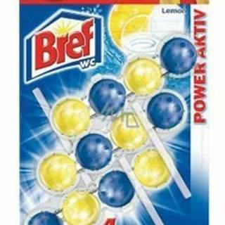 Wc čistič Bref 4 Formula Lemon záves 3x50g guličky