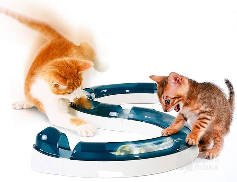 Plaček Hračka mačka guľovou dráhou s loptičkou CATIT plast 1ks