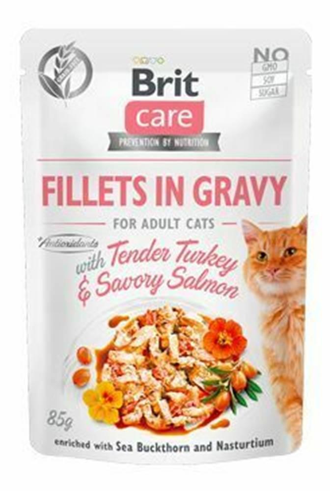 Brit Care Brit Care Cat Fillets in Gravy Turkey&Salmon 85g
