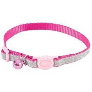 Obojok mačka SHINY nylon ružový 10mm / 30cm Zolux