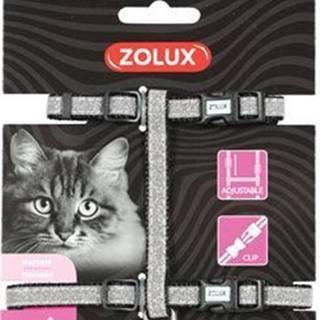Postroj mačka SHINY nylon čierny Zolux
