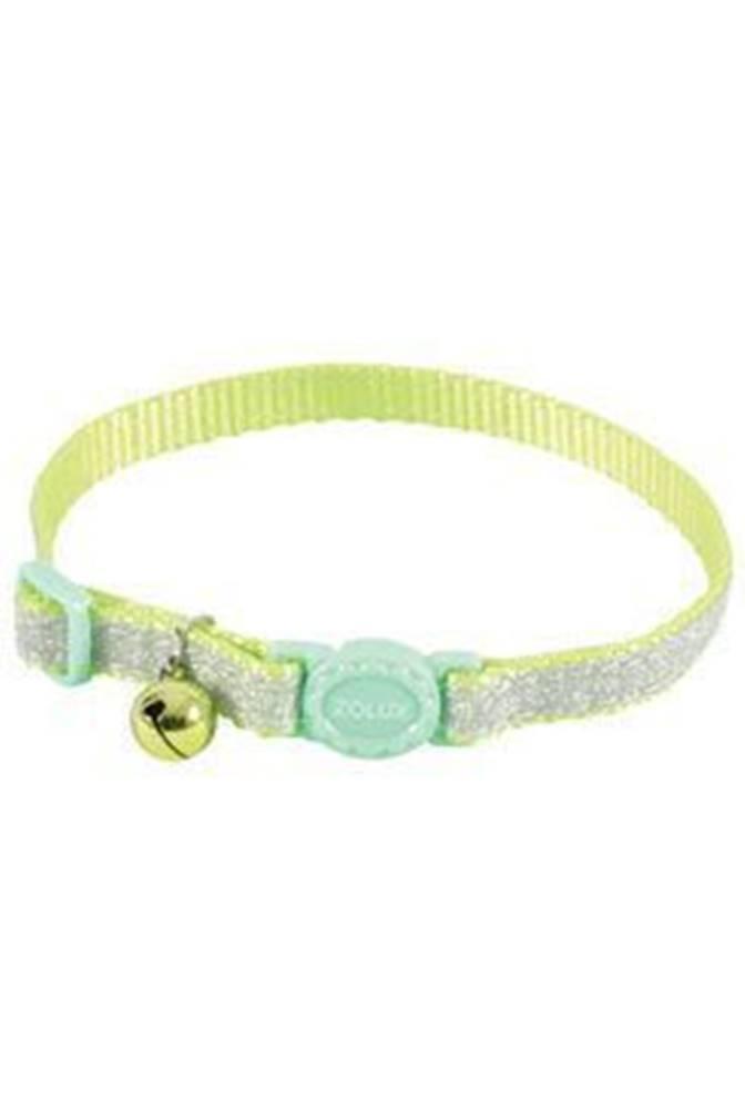Zolux Obojok mačka SHINY nylon zelený 10mm / 30cm Zolux