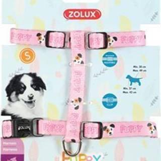 Postroj pes šteňa MASCOTTE nastaviteľný ružový 13mm Zo