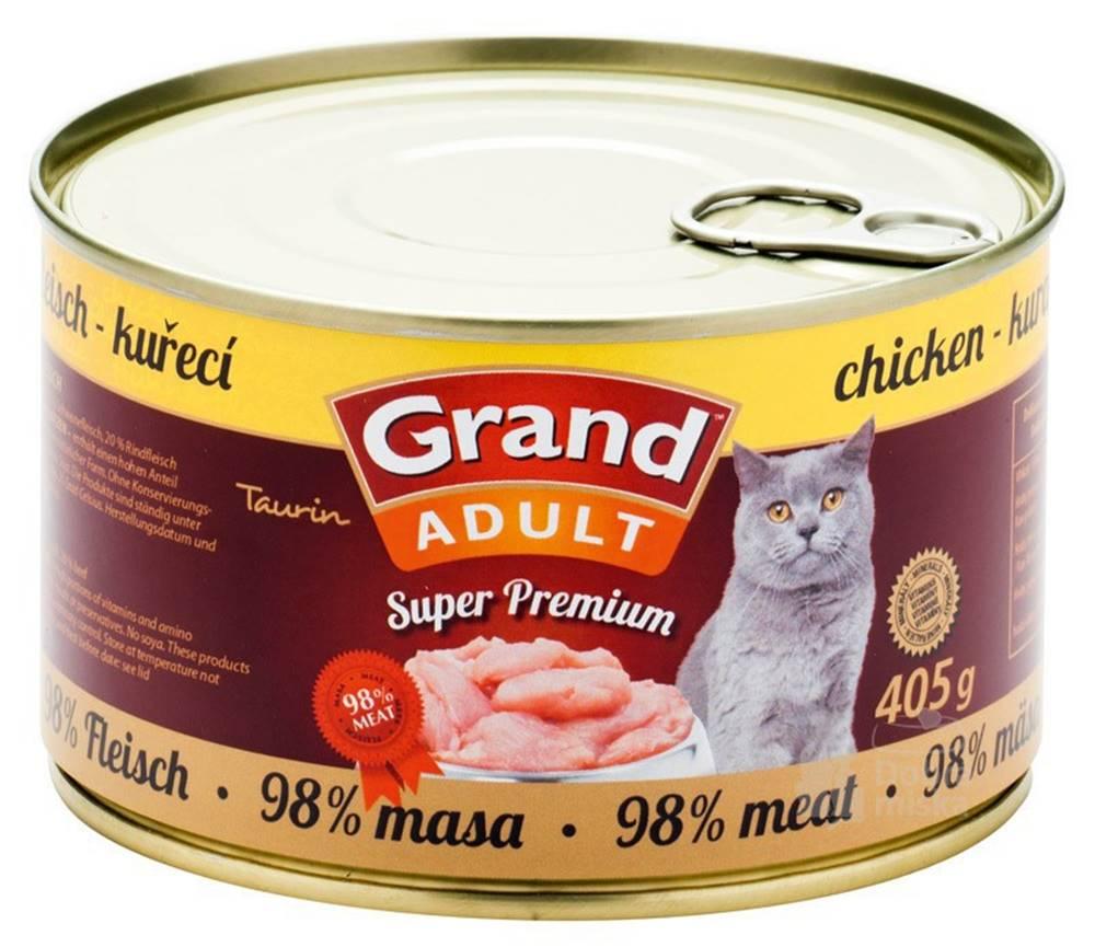 Grand GRAND konz.  Superpremium kočka kuřecí 405g