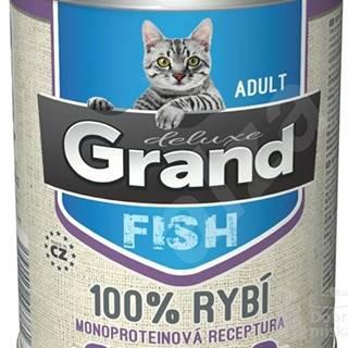 GRAND konz. mačka deluxe 100% rybie 400g