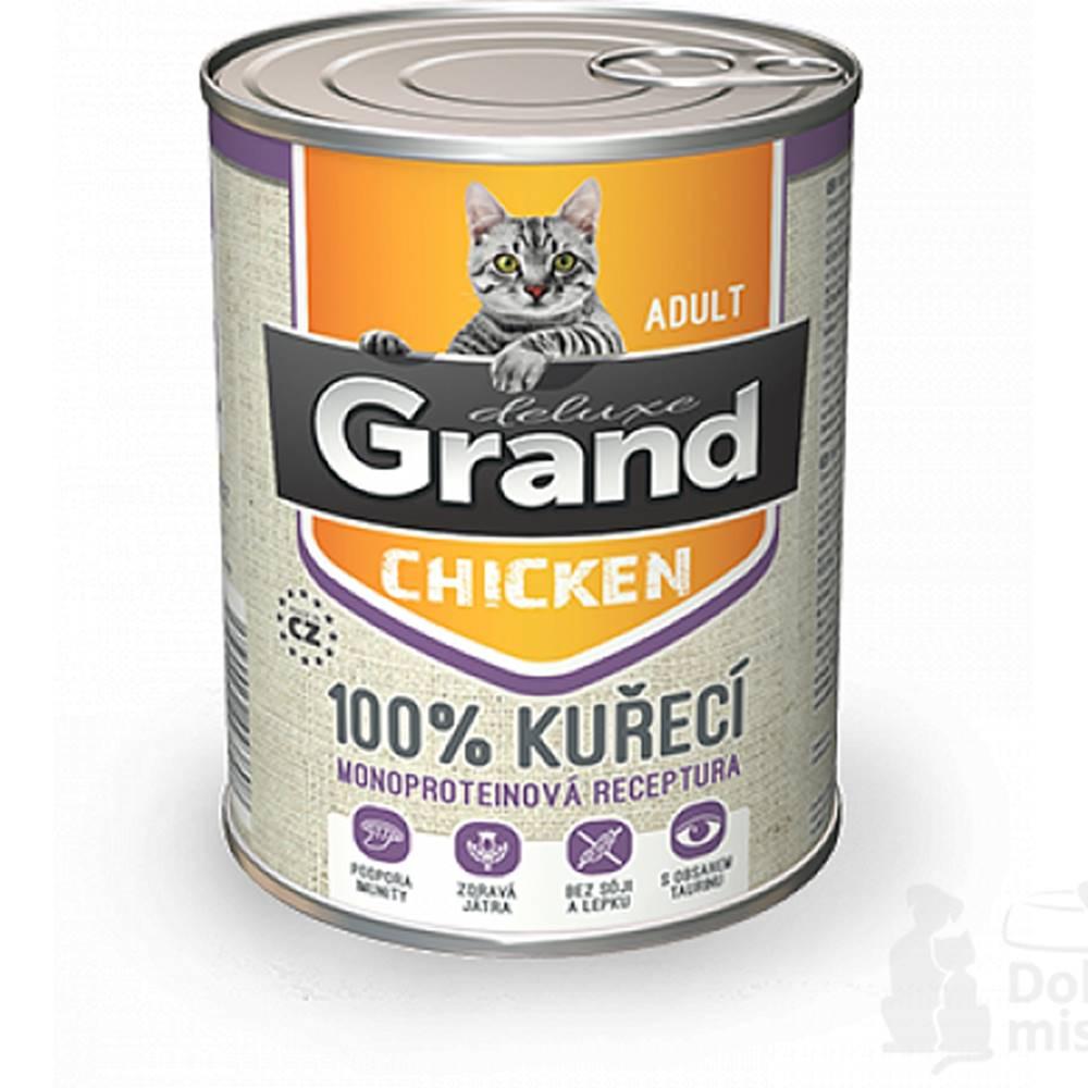 Grand GRAND konz. mačka deluxe 100% hydinové 400g