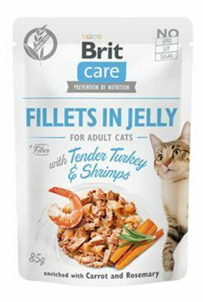 Brit Care Brit Care Cat Fillets in Jelly with Turkey&Shrimps 85g