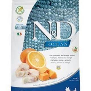 N&D OCEAN DOG GF Adult Mini Codfish&Pumpki&Orang 2,5kg