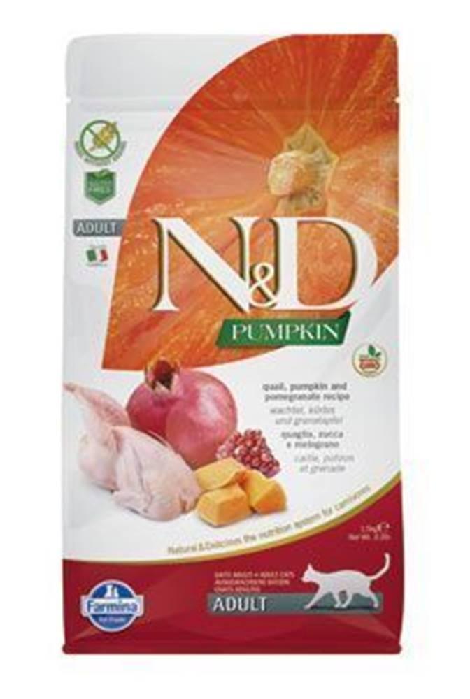 N&D (Farmina Pet Foods) N&D GF Pumpkin CAT Quail & Pomegranate 5kg