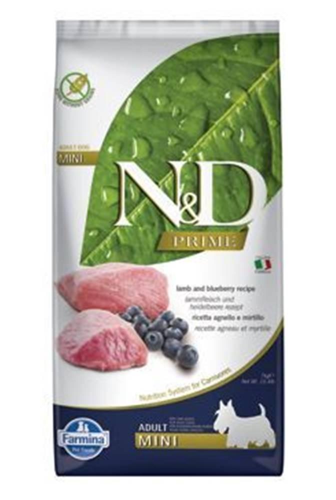 N&D N&D PRIME DOG Adult Mini Lamb & Blueberry 7kg