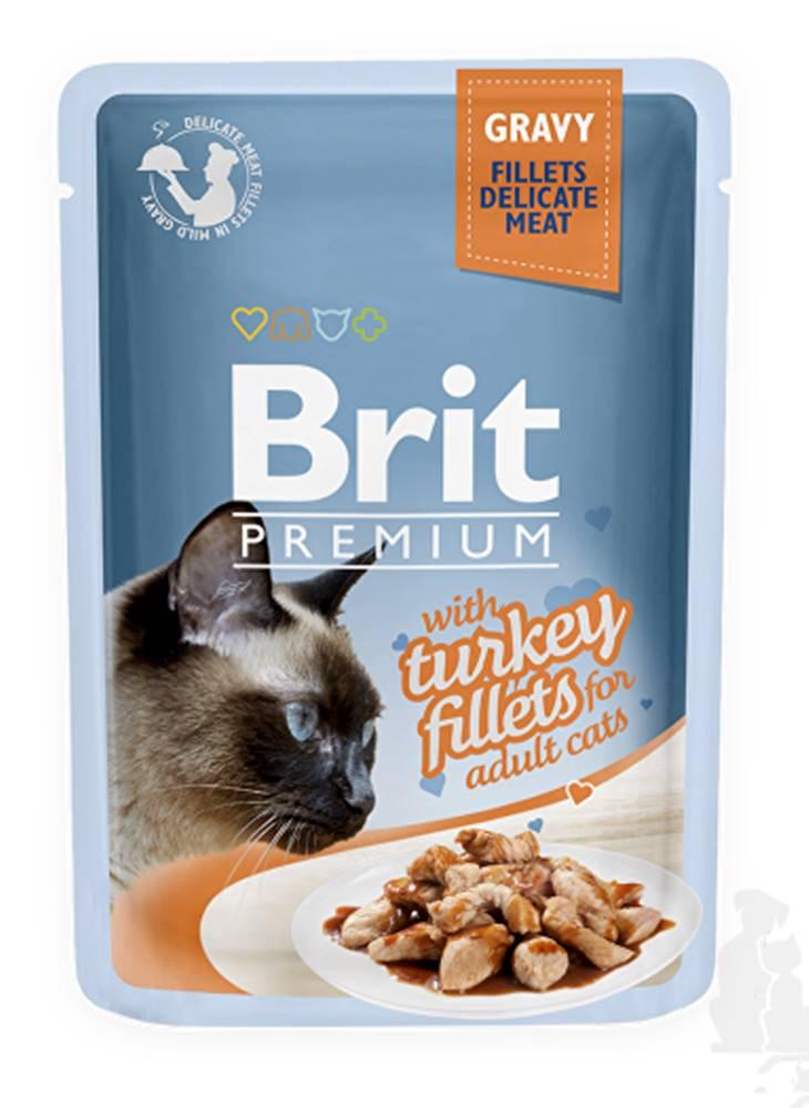 Brit Brit Premium Cat D Fillets in Gravy With Turkey 85g