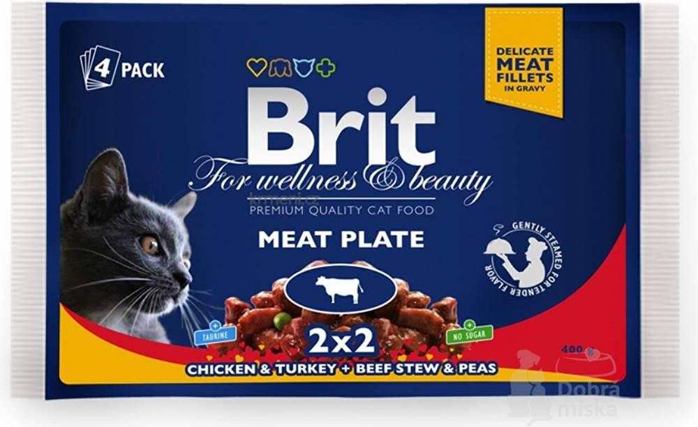 Brit Brit Premium Cat kapsa Meat Plate 400g (4x100g)