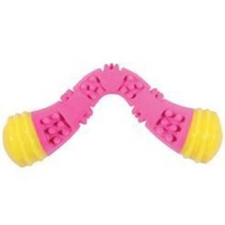 Hračka pes TPR SUNSET bumerang 23cm růžová Zolux