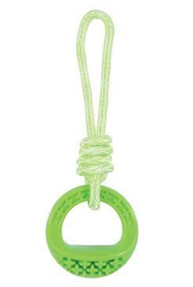 Zolux Hračka pes TPR SAMBA krúžok s lanom zelená Zolux