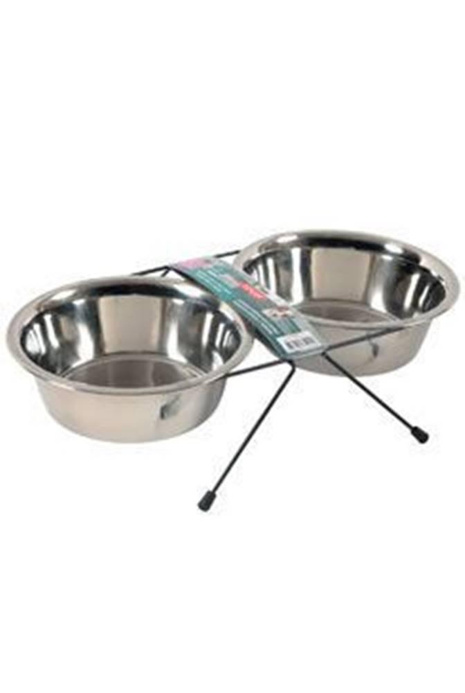 Zolux Miska nerez stojan+2 misky pes STEEL 1,3l Zolux