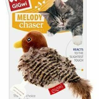 Hračka mačka GiGwi Melody Chaser Ptáček sa zvuk.čipem