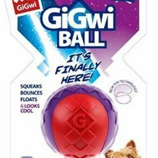 Hračka pes GiGwi Ball loptička S červeno / purpurový