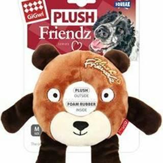 Hračka pes GiGwi Plush Friendz medveď s gumovým krúžk
