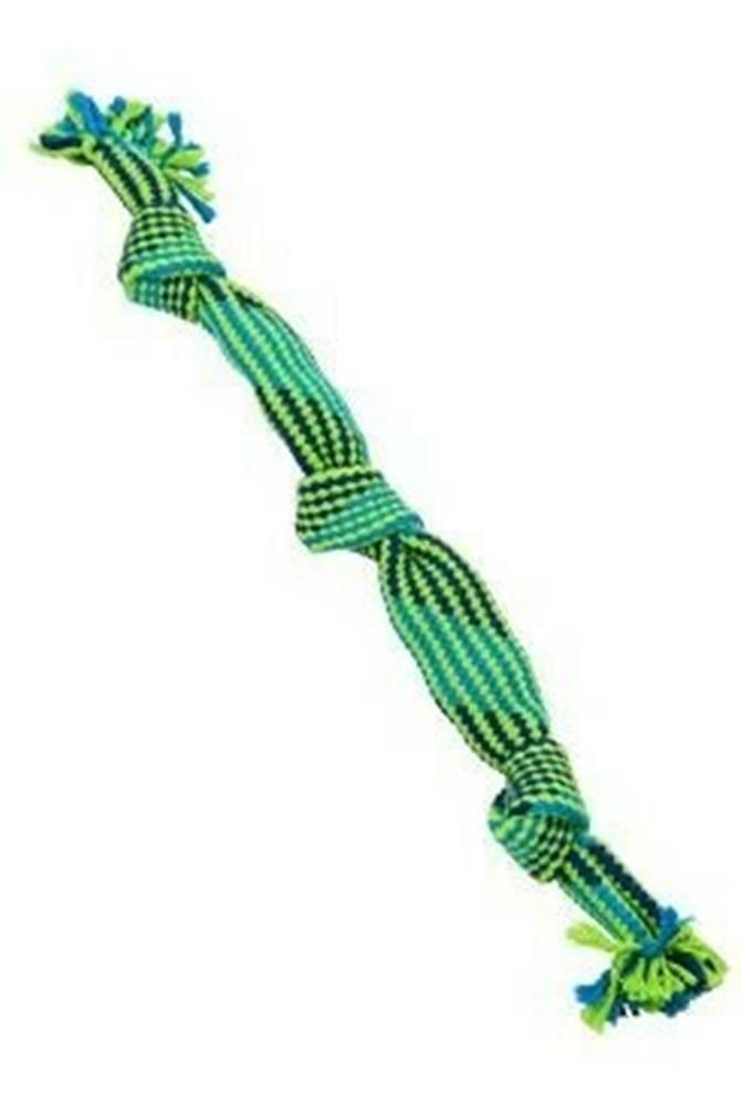Kruuse Jorgen A/S Hračka pes BUSTER Pískací lano, modrá/zelená, 58cm, L