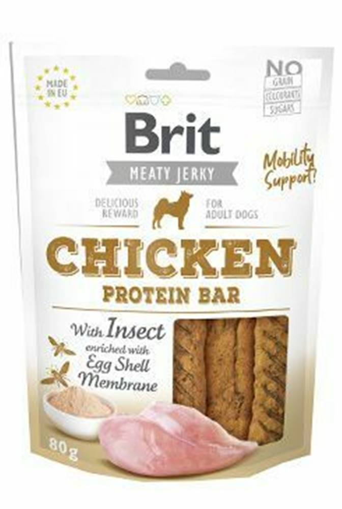 Brit Brit Jerky Chicken with Insect Protein Bar 80g