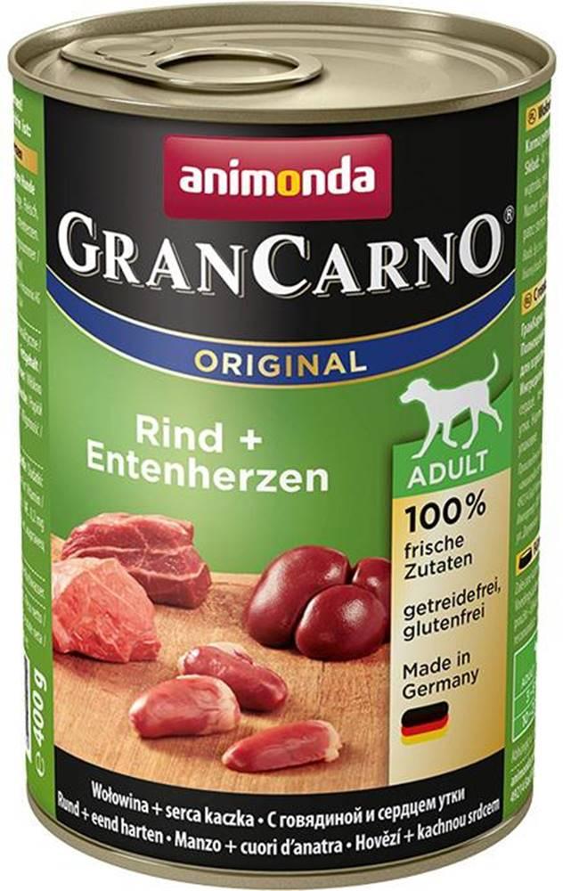 Animonda Animonda dog konzerva Gran Carno hovädzie / kačacie srdce - 400g