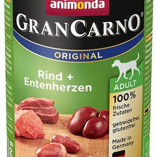 Animonda dog konzerva Gran Carno hovädzie / kačacie srdce - 400g