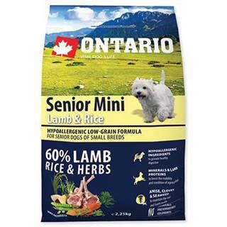 ONTARIO dog SENIOR MINI lamb - 2,25kg