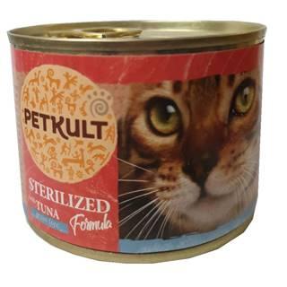 PETKULT  cat konz.  STERILISED  tuňák - 185g
