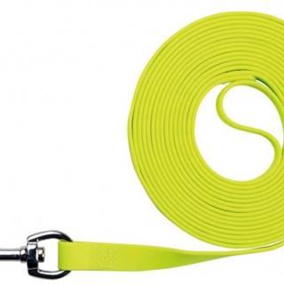 Vodítko EASY LIFE trekové PVC neon žltá - 1,7cm / 10m