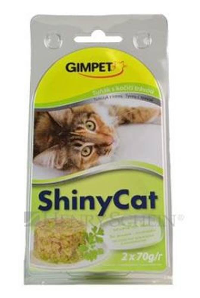 (bez zařazení) GIMPET SHINYcat TUŇÁK / kočičí tráva - 2x70g