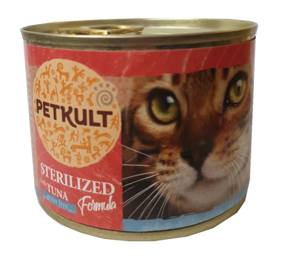 Petkult PETKULT  cat konz.  STERILISED  tuňák - 185g