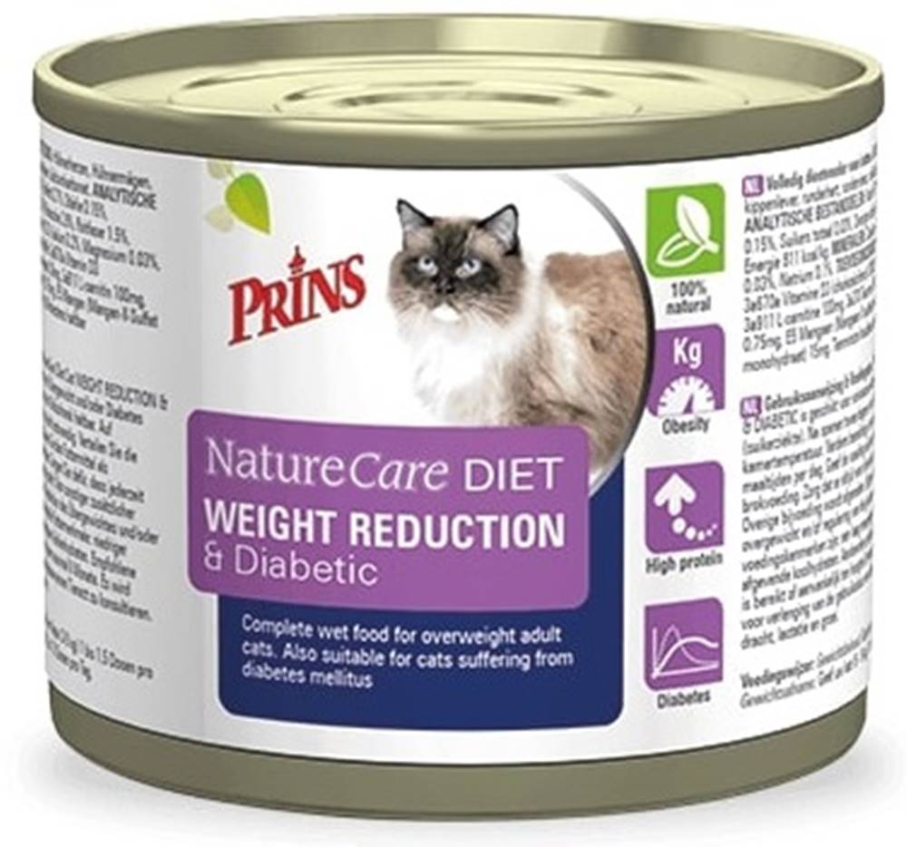 Prins PRINS NatureCare Veterinary Diet WEIGHT REDUCTION & Diabetic - 200 g