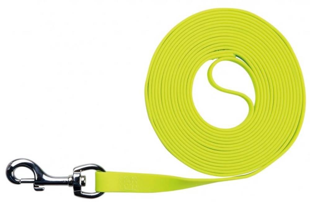 Trixie Vodítko EASY LIFE trekové PVC neon žltá - 1,7cm / 10m