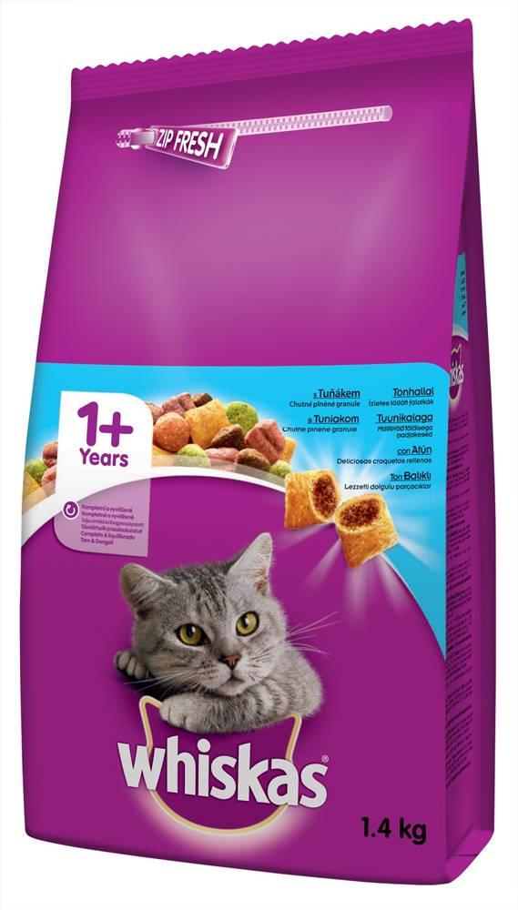 Whiskas WHISKAS suché Tuniak - 1,4kg