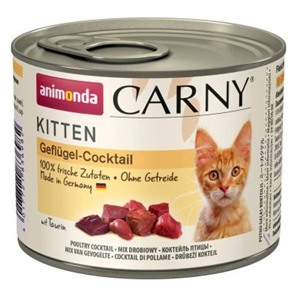 Animonda Animonda cat konzerva Carny Kitten hydinové koktail - 200g