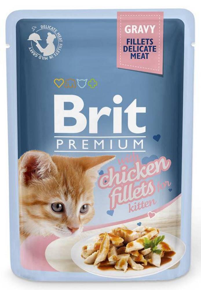 Brit BRIT cat  kapsa  FILLETS  KITTEN chicken/šťáva - 85g
