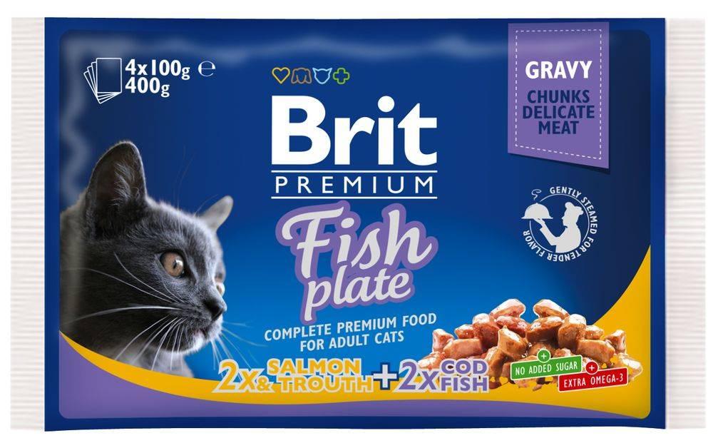 Brit BRIT cat  vrecko  4x100g - Rybie menu