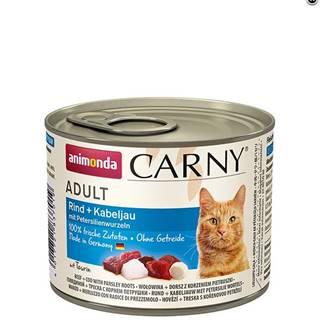 ANIMONDA cat konzerva CARNY hovädzie/treska/petržlen - 200g
