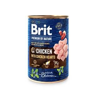 BRIT dog Premium by Nature CHICKEN with HEARTS - 400g