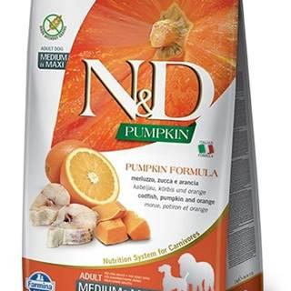 N&D dog GF PUMPKIN ADULT M/L codfish/orange - 2,5kg