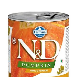 N&D dog GF PUMPKIN konz. ADULT quail/pumpkin - 285g