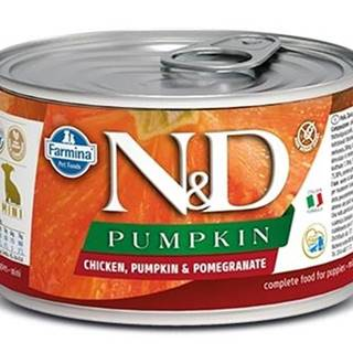 N&D dog GF PUMPKIN konz. PUPPY MINI chicken/pomegranate - 140g