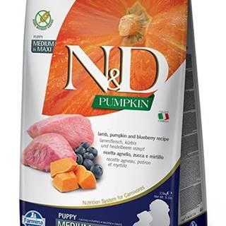 N&D dog GF PUMPKIN PUPPY M/L lamb/blueberry - 2,5kg