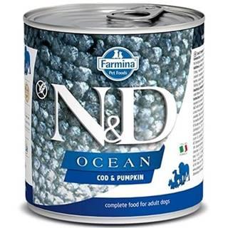 N&D dog OCEAN konz. ADULT codfish/pumpkin - 285g
