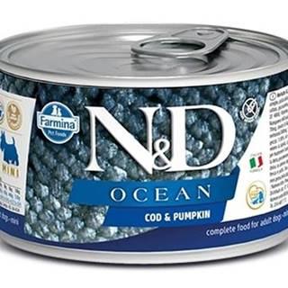N&D dog OCEAN konz. ADULT MINI codfish/pumpkin - 140g