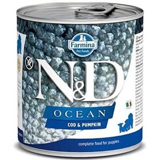 N&D dog OCEAN konz. PUPPY codfish/pumpkin - 285g