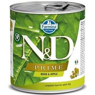 N&D dog PRIME konz. ADULT boar/apple - 285g