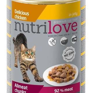 NUTRILOVE cat konz. kúsky - KURACIE 400g