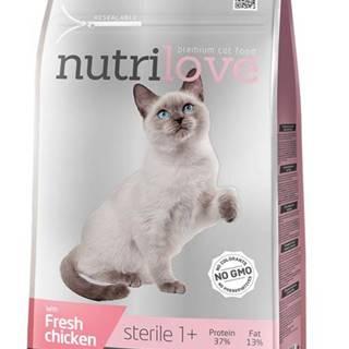 NUTRILOVE cat STERILE - KURACIE 1,4kg